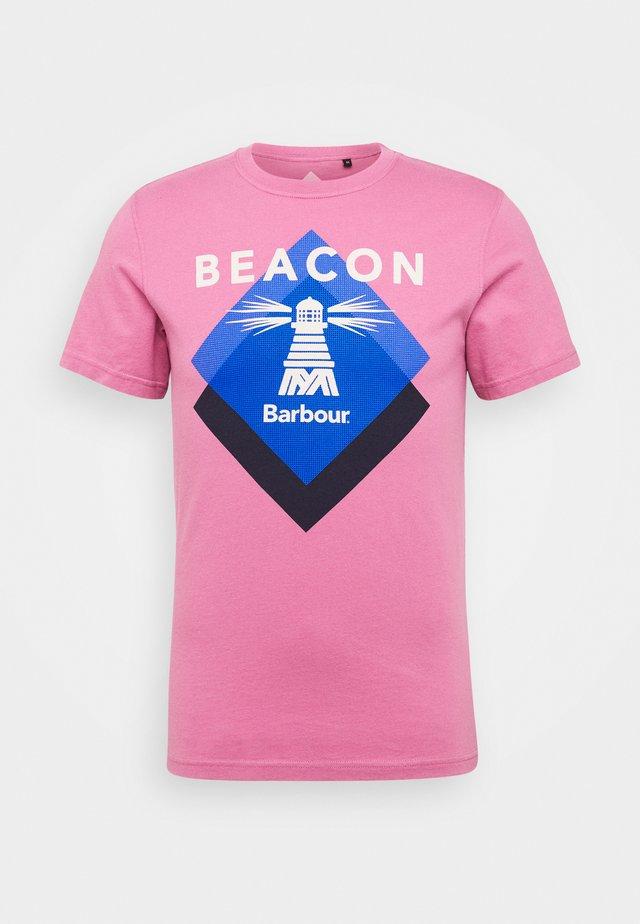RADAR TEE - Print T-shirt - maroon