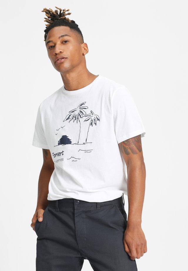 JONNE - Print T-shirt - white