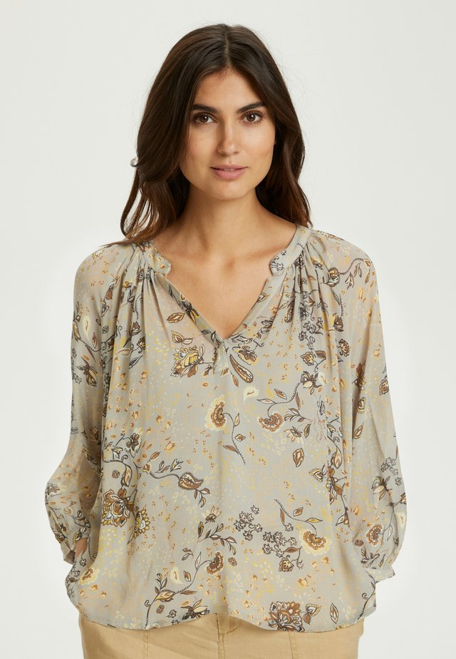 Blouse - paisley flower, flint gray