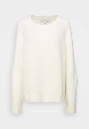 EMILY ROUND NECK - Jumper - white