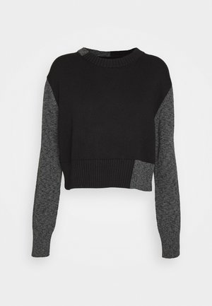 Strikpullover /Striktrøjer - black/grey