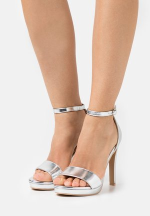 CIMONA - High heeled sandals - silver