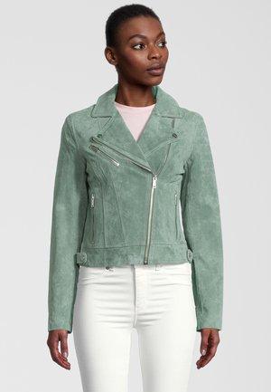 DAMINA - Leather jacket - green