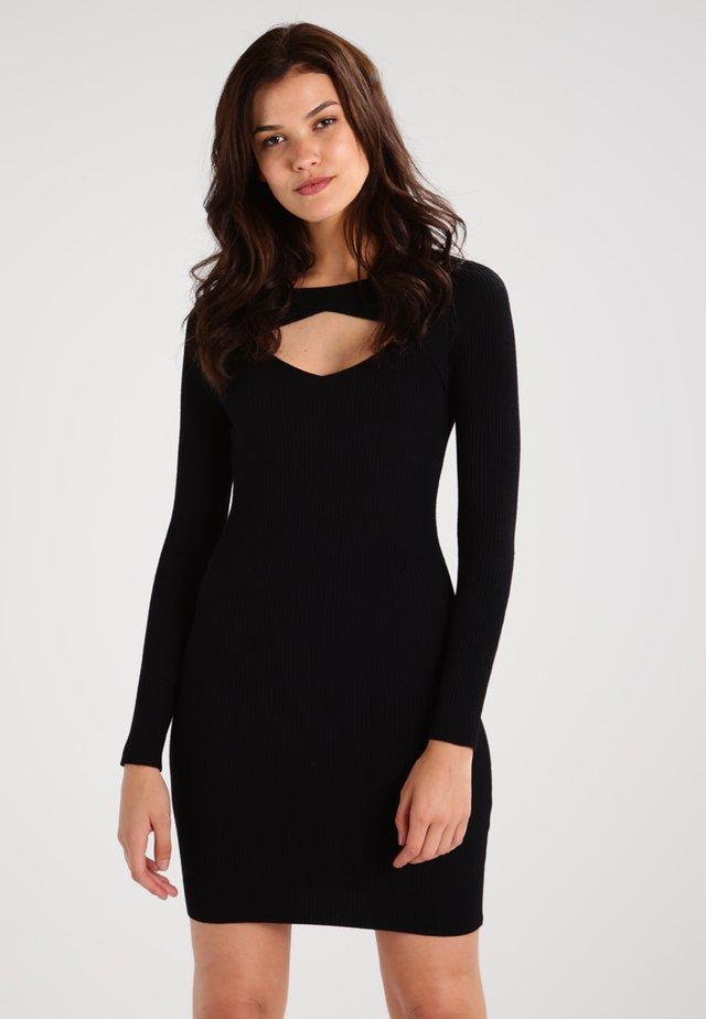 LADIES CUT OUT - Vestido de tubo - black