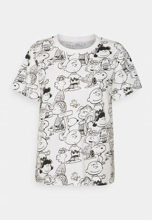 MYSEN PEANUTS - T-shirt con stampa - whisper white