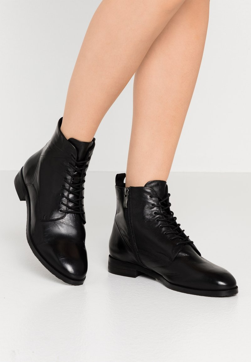 Caprice - Lace-up ankle boots - black