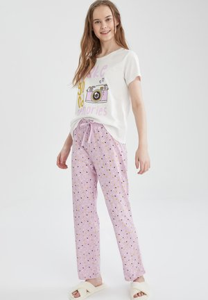 2 PIECE SET - Piżama - purple