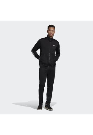 FABRIC MIX TRACKSUIT - Tracksuit - black