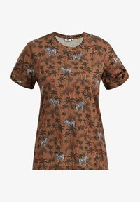 WE Fashion - Print T-shirt - brown - 5