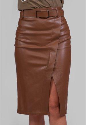 Falda - Falda de tubo - marron