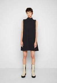 Victoria Victoria Beckham - SLEEVELESS MINI SHIFT DRESS - Sukienka koktajlowa - black - 4