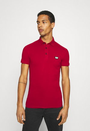 PLATE ON FRONT - Polo shirt - rosso