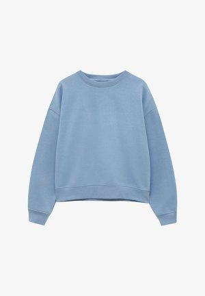MIT RUNDAUSSCHNITT - Sweatshirts - light blue