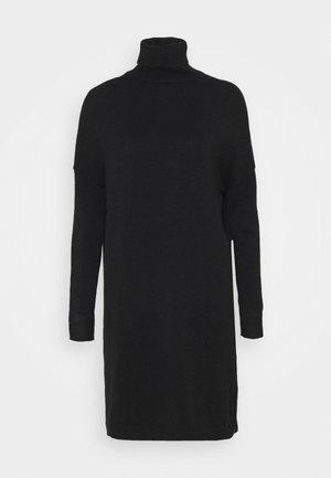 VIRIL ROLLNECK  - Jumper dress - black