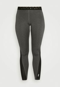 ONLY Play - ONPJYNX TRAINING - Leggings - dark grey melange/black/white gold - 4