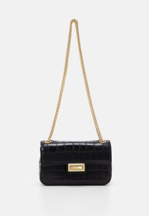 JOJO SMALL FLAP CBODY - Across body bag - black/gold