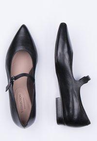 TJ Collection - MARY-JANE - Ballerina's met enkelbandjes - black - 4
