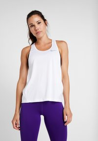 Nike Performance - MILER TANK RACER - Sports shirt - white/reflective silver - 0