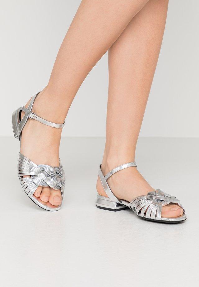 Riemensandalette - metal argento