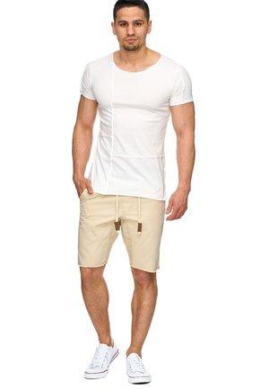 CARVER - Denim shorts - beige