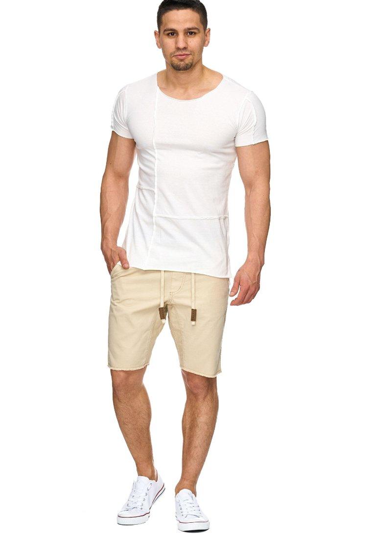 INDICODE JEANS - CARVER - Denim shorts - beige