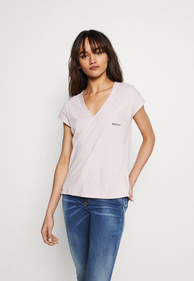 T-shirt con stampa - quartz rose