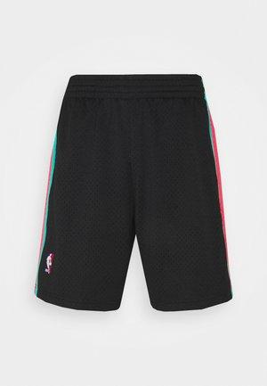 NBA SAN ANTONIE SPURS RELOAD SWINGMAN SHORT - Club wear - black