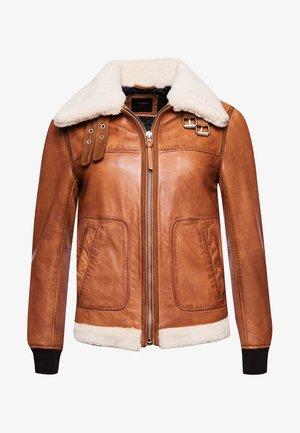 Flight  - Leather jacket - tan