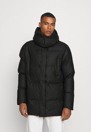 HOODED PUFFER COAT UNISEX - Veste d'hiver - black