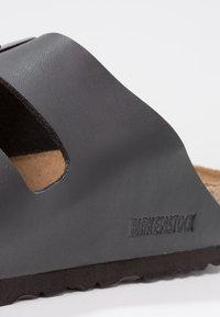 Birkenstock - ARIZONA SOFT FOOTBED NARROW FIT - Sandaler - black - 5