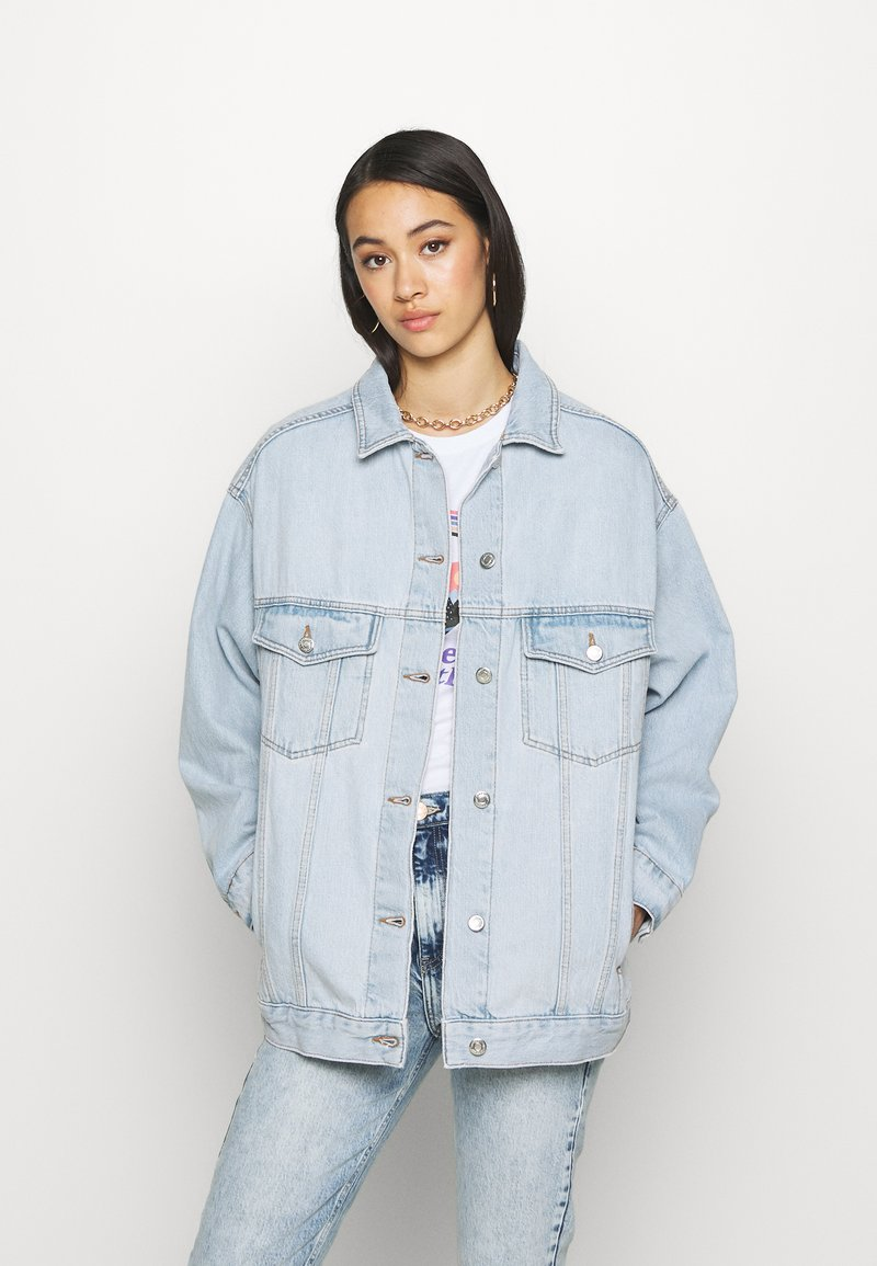 Topshop - DAD - Denim jacket - bleached denim