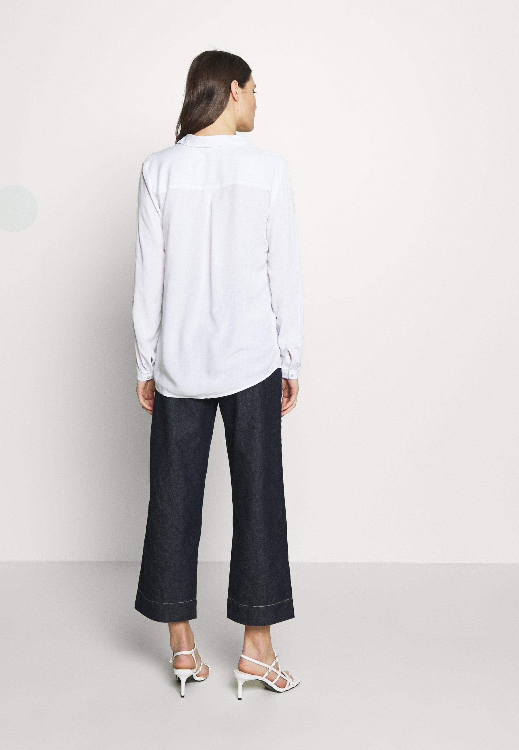 Esprit NEW SLUB - Blouse - white - Dameskleding Klassiek
