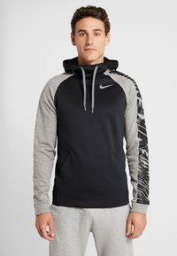 Nike Performance - Jersey con capucha - black/dark grey heather/smoke grey - 0