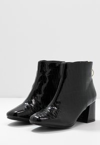 Miss Selfridge Wide Fit - WIDE FIT BRIXTON ZIP BACK SQUARE TOE - Ankle boots - black - 4