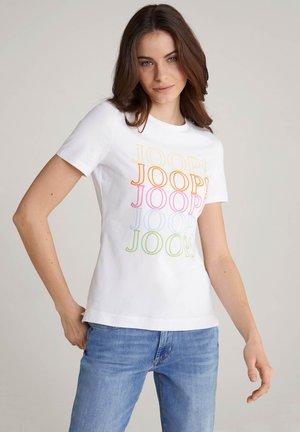 TAMI - Print T-shirt - weiß/gelb/orange/pink/blau/grün