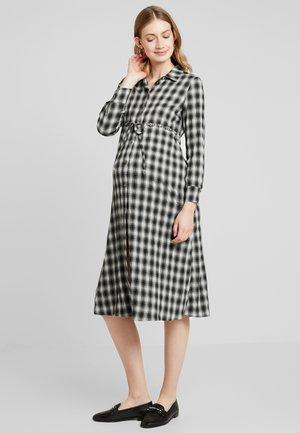 CINTURA PALLINE - Shirt dress - grey