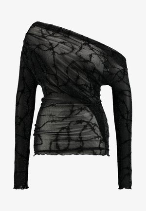 OFF THE SHOULDER - Blouse - glitter barbed wire