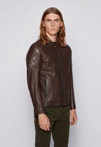BOSS - JEEAN  - Leather jacket - dark brown - 0