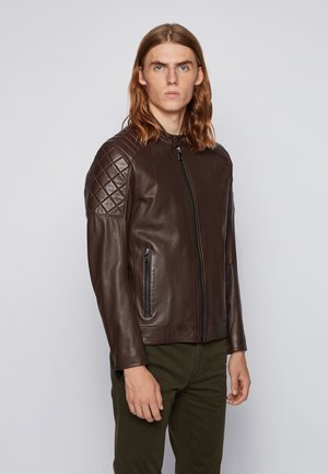 JEEAN  - Leather jacket - dark brown