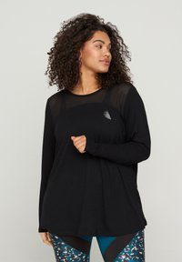 Active by Zizzi - MIT PRINTDETAILS - Long sleeved top - black - 0
