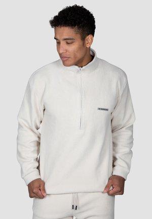 Fleece jumper - cremeweiß
