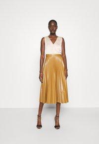 Closet - PLEATED SKIRT DRESS - Day dress - beige - 0