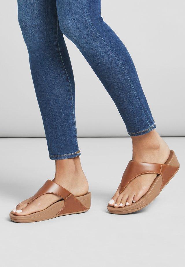 T-bar sandals - light tan