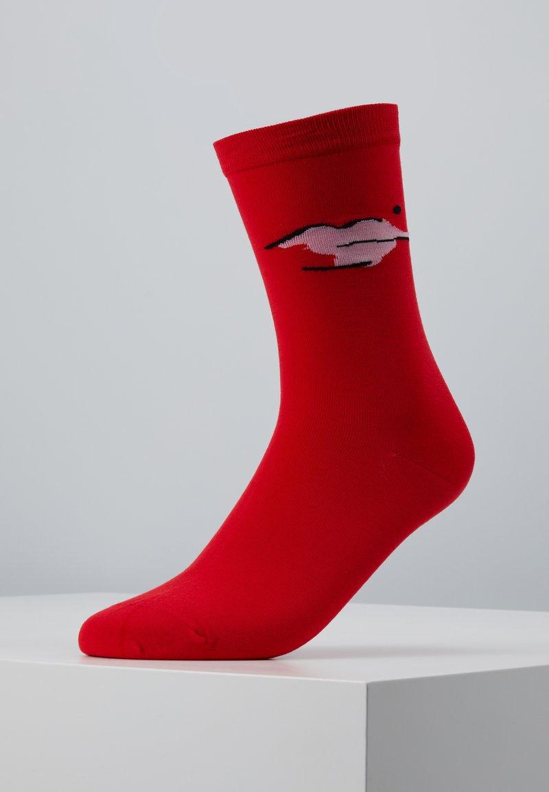 Lulu Guinness - BEAUTY SPOT SOCKS - Socks - red