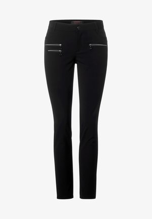 SLIM FIT  - Trousers - schwarz