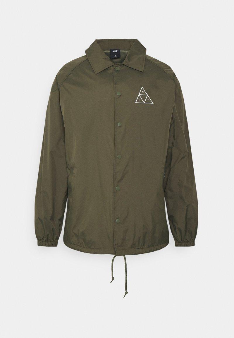 HUF - ESSENTIALS COACHES JACKET - Summer jacket - olive