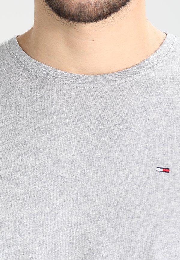 Tommy Jeans ORIGINAL TEE REGULAR FIT - T-shirt basic - light grey/szary melanż Odzież Męska AAUC