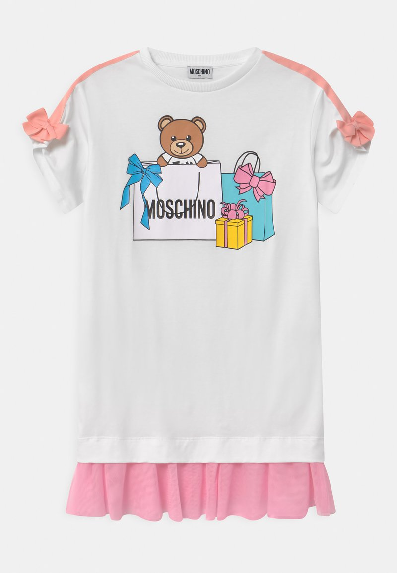 MOSCHINO - Žerzejové šaty - optic white