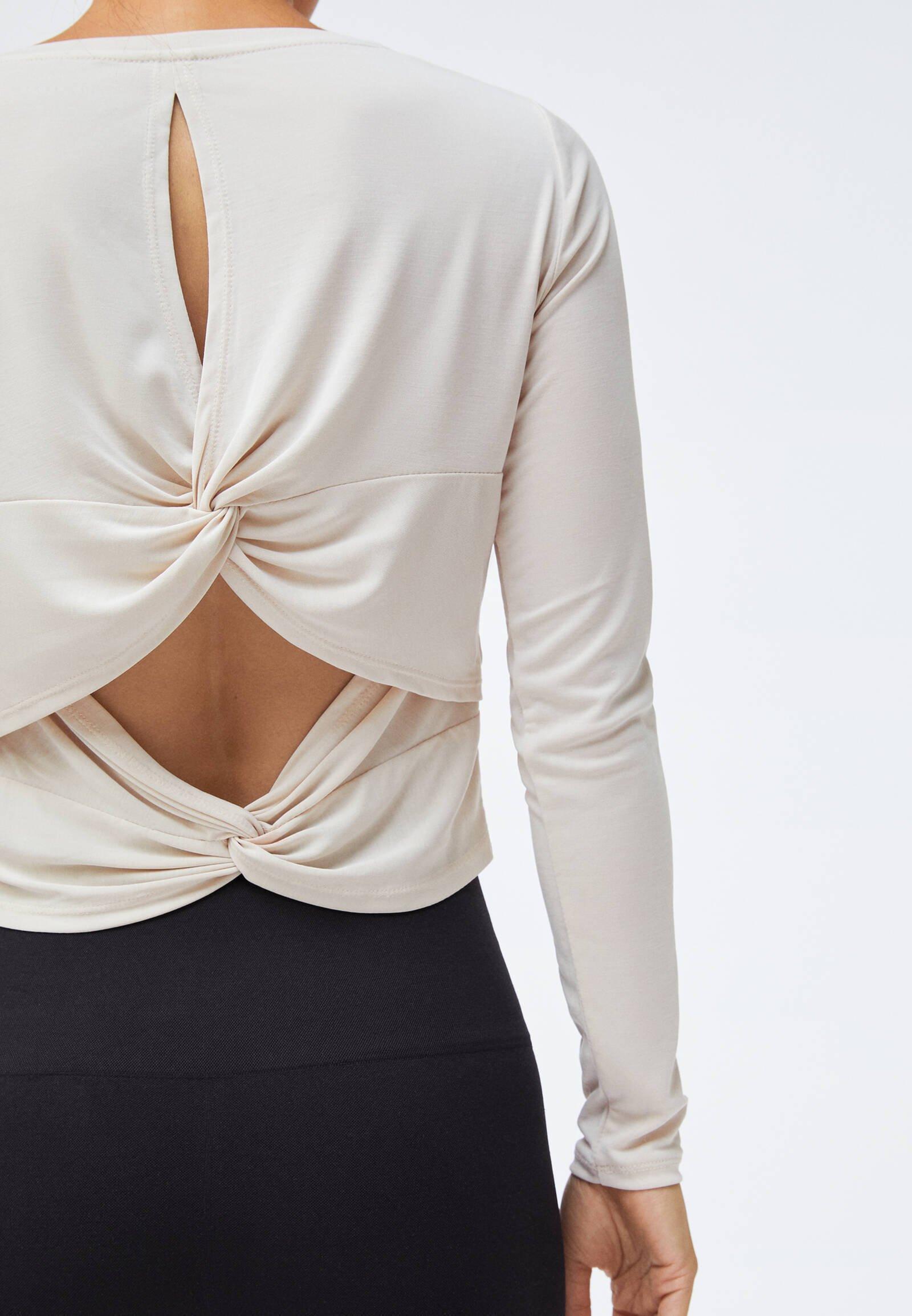 OYSHO Long sleeved top - white xMpDp