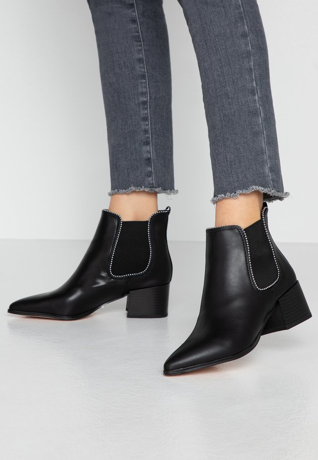 BEADED - Boots à talons - black
